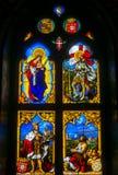 Janela de vitral do palácio nacional de Pena, Portugal Imagem de Stock