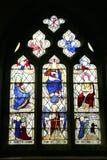Janela de vitral, Eyam, Derbyshire. Fotos de Stock