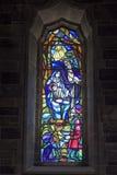 Janela de vitral nativa da cena, Galway Fotos de Stock