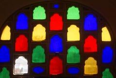 Janela decorativa de vidro colorida Foto de Stock