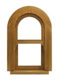 Janela do arco da madeira Imagens de Stock Royalty Free