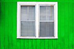 Janela do branco de GreenWall Fotografia de Stock Royalty Free