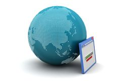 Janela do browser com globo