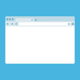 Janela do browser lisa simples no fundo azul Imagem de Stock
