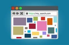 Janela do browser para o acesso à internet Imagem de Stock Royalty Free