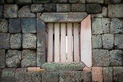 Janela do khmer Prasada Fotografia de Stock