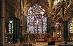 Janela do leste em Lincoln Cathedral Imagem de Stock Royalty Free
