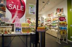 Janela do shopping na Suécia Imagem de Stock Royalty Free