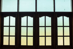 A janela do vintage no estilo tradicional de Burma imagem de stock