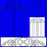 Janela e projeto da porta ilustração do vetor