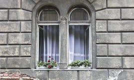 Janela em budapest Imagem de Stock