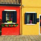 Janela em Murano, Veneza, Itália imagens de stock royalty free