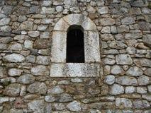 Janela, fortaleza Castell Foto de Stock