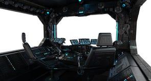 Janela interior do grunge da nave espacial isolada ilustração do vetor