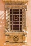 Janela medieval da parede Imagens de Stock