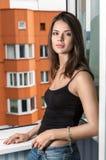 Janela moreno Foto de Stock