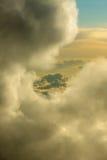 Janela nas nuvens Imagens de Stock Royalty Free