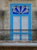Janela ofTypical da vista em Havana em Cuba Imagem de Stock Royalty Free