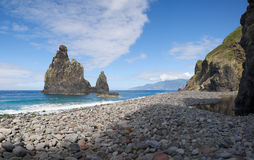 Janela river mouth, Madeira Royalty Free Stock Image