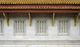 Janela tailandesa tradicional do templo do estilo Foto de Stock Royalty Free
