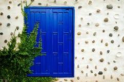 Janela velha azul do vintage Imagem de Stock