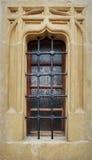 Janela velha com ornamento Fotos de Stock Royalty Free