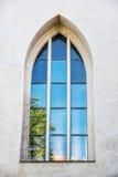 Janela velha com reflexões, castelo de Spilberk, Brno, republ checo Fotografia de Stock Royalty Free