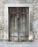 Janela velha da madeira Imagens de Stock Royalty Free