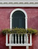 Janela Venetian fotografia de stock