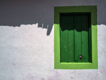 Janela verde Fotografia de Stock