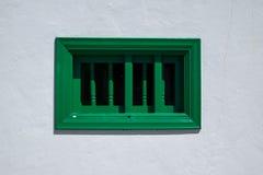 Janela verde fotografia de stock royalty free