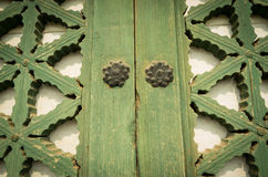 Janela verde Imagem de Stock