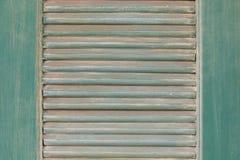 Janela verde do vintage Fotos de Stock Royalty Free