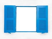Janelas abertas azul Fotografia de Stock