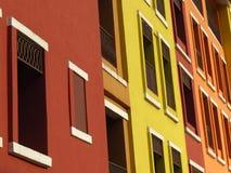 Janelas abstratas da construção Fotografia de Stock Royalty Free
