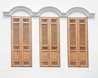 Janelas da madeira do vintage Imagem de Stock