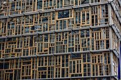 Janelas das construções do Europa Foto de Stock Royalty Free