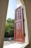 Único retro do vintage de madeira da janela Imagem de Stock