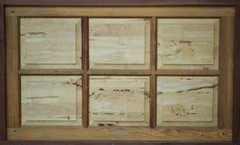Janelas de madeira, fundo Imagens de Stock Royalty Free