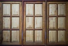 Janelas de madeira, fundo Fotografia de Stock