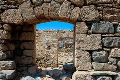 Janelas de pedra velhas Imagens de Stock