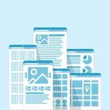 Janelas do browser diferentes Foto de Stock