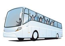 Janelas do ônibus dos povos ilustração stock