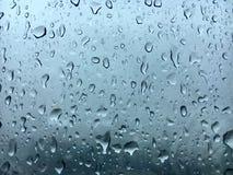 Janelas dos pingos de chuva Fotografia de Stock Royalty Free