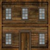 Janelas em uma casa velha. Imagens de Stock