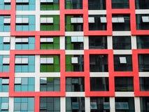 Janelas modernas da construção Imagem de Stock Royalty Free