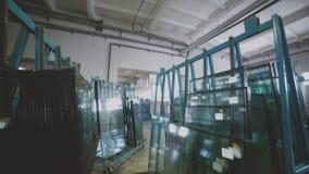 Janelas plásticas Unidade de vidro Vitrificação dobro video estoque