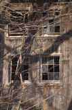 4 janelas quebradas Imagens de Stock