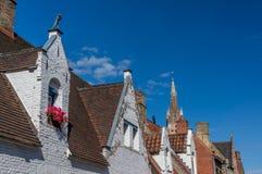 Janelas tradicionais de Bruges Fotografia de Stock
