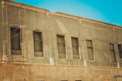 janelas velhas da construção dentro da citadela do Cairo Foto de Stock